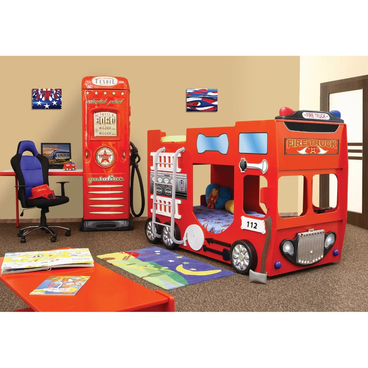Toddler Bunks Plastiko Fire Truck Toddler Bunk Bed Wayfair Ca
