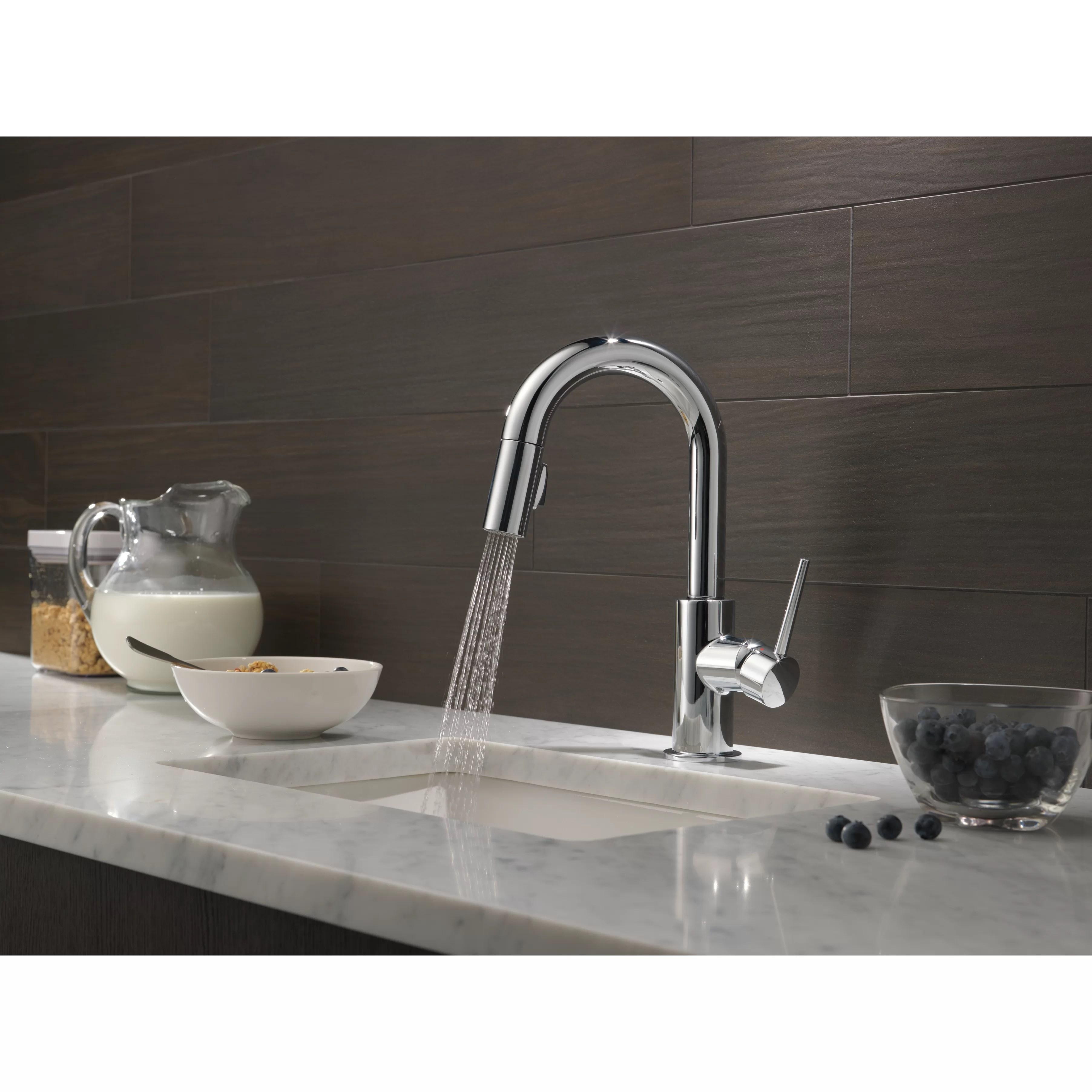 Delta Trinsic C2 AE Kitchen Single Handle Pull Down Bar Prep Faucet DLT delta trinsic kitchen faucet Delta Trinsic reg Kitchen Single Handle Pull Down Bar Prep Faucet