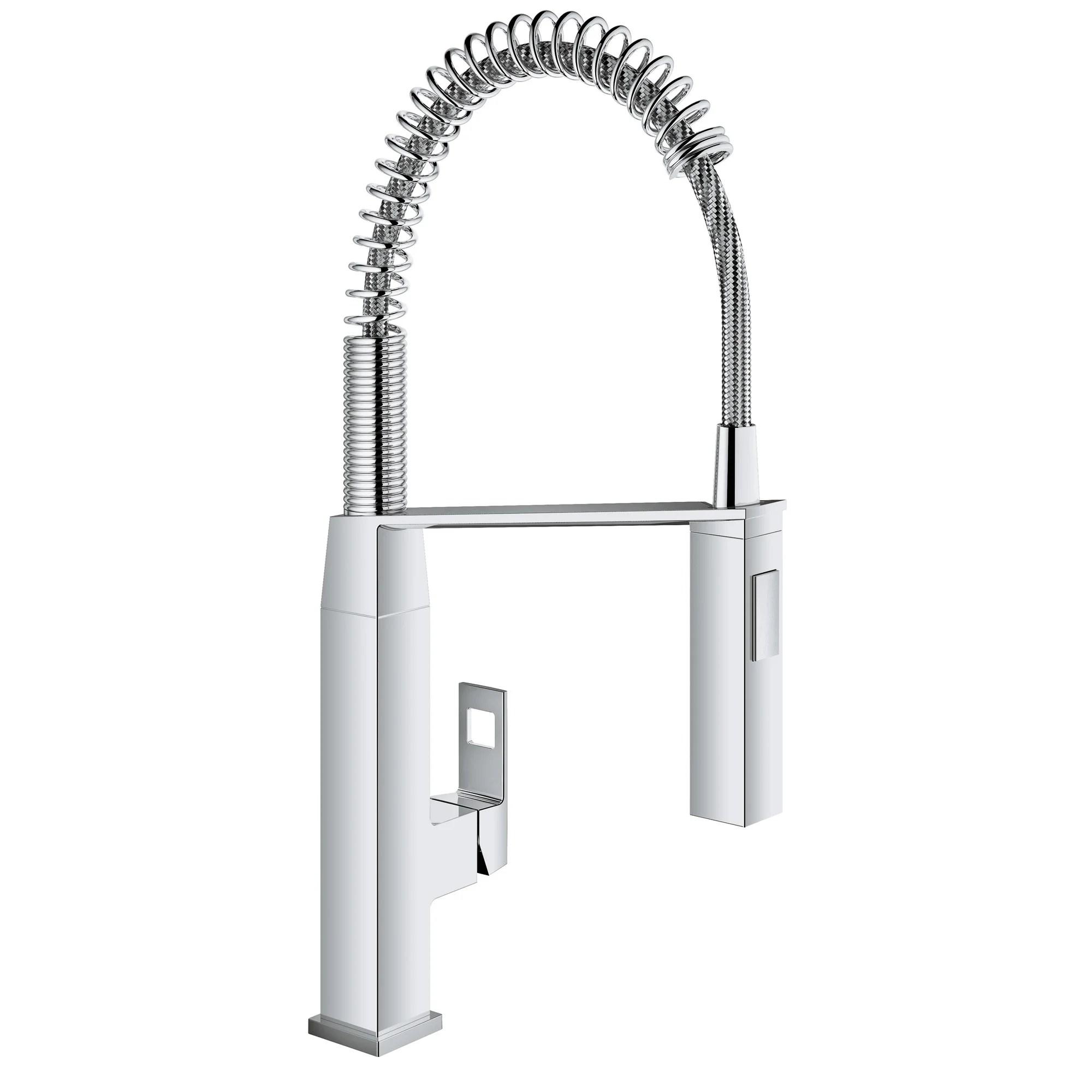 grohe kitchen faucets c a~ hansgrohe kitchen faucet Eurocube Single Handle Deck Mount Semi Pro Kitchen Faucet