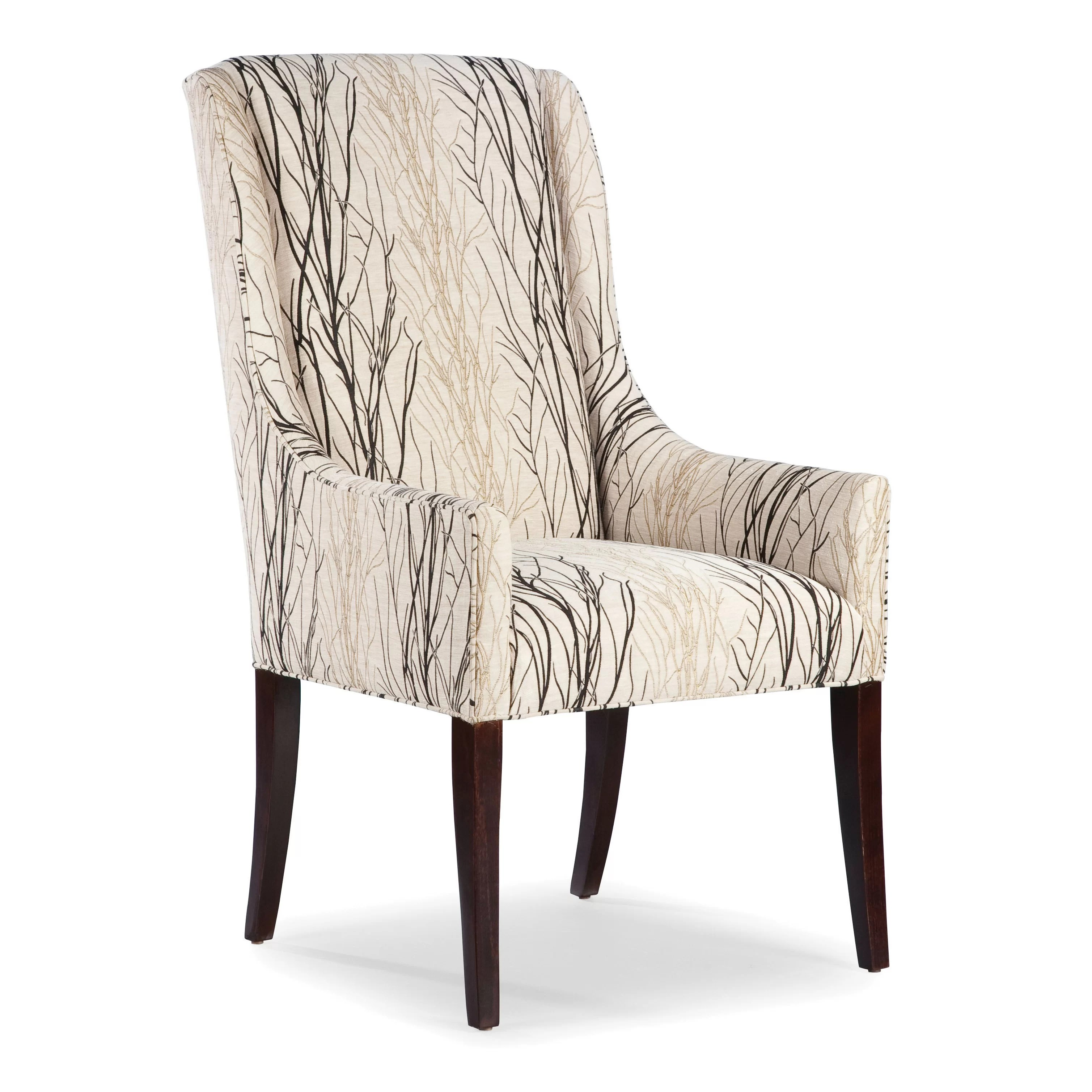 keyword wayfair kitchen chairs QUICK VIEW High Back Dining Arm Chair