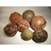 Frantic Fern 7 Piece Assorted Decorative Balls Set ...