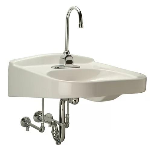 Wheelchair Ada Bathroom Sink With Half Pedestal Wayfair