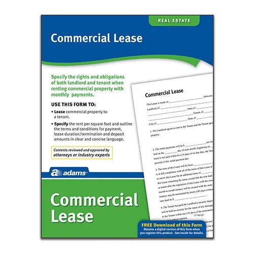 Commercial Lease Forms and Instruction by Adams Business Forms on