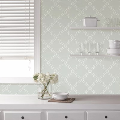 WallPops! Grey Quatrefoil Peel And Stick Wallpaper & Reviews | Wayfair