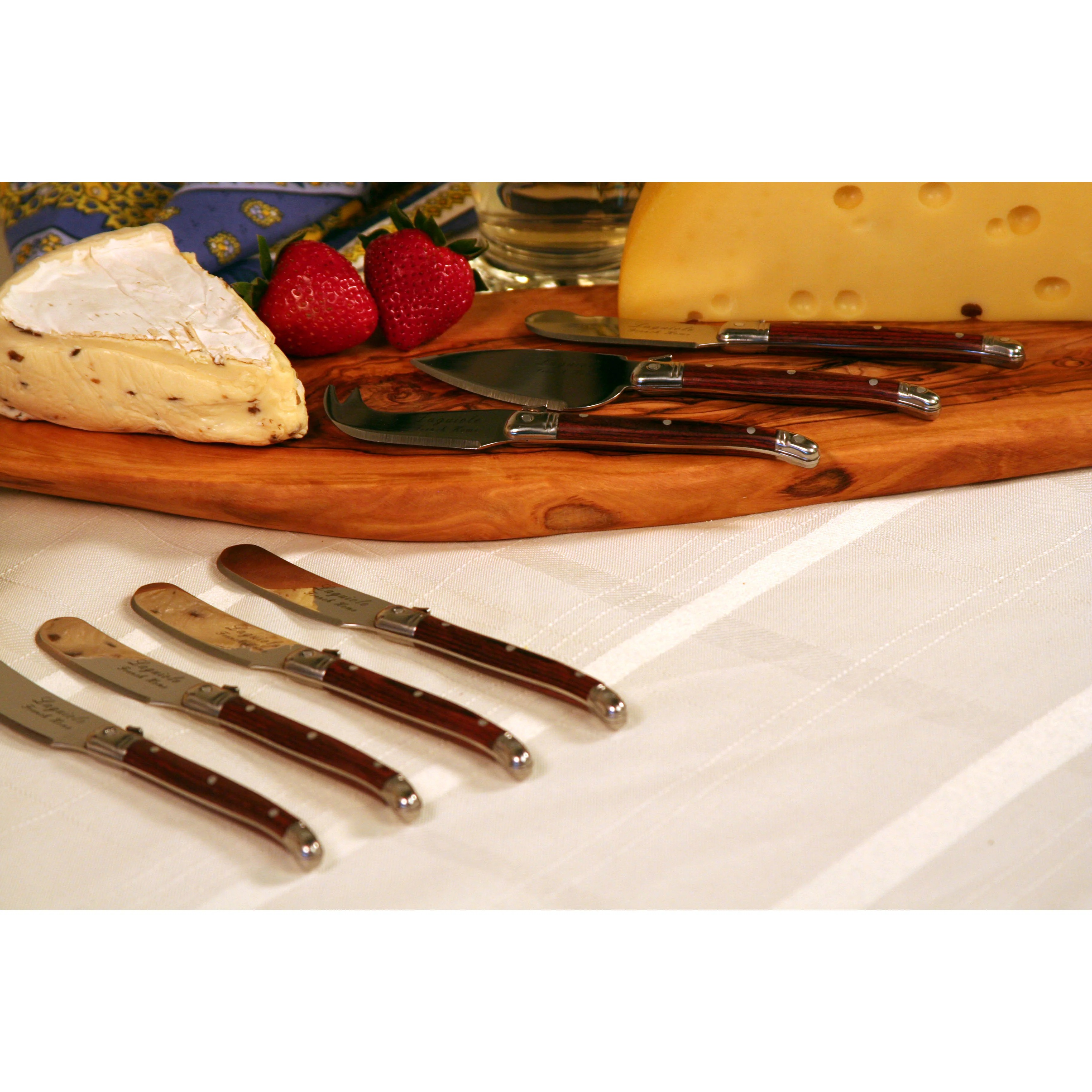 kitchen tableware flatware serving pieces french home sku fhg laguiole piece kitchen knife set french home