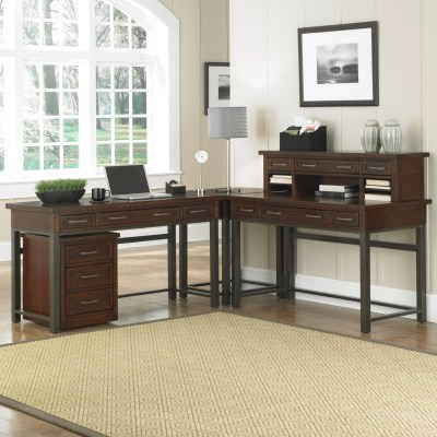 Home Styles Cabin Creek Computer Desk with Keyboard Tray ...