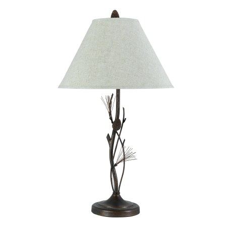 Bird Lamp With Burlap Shade