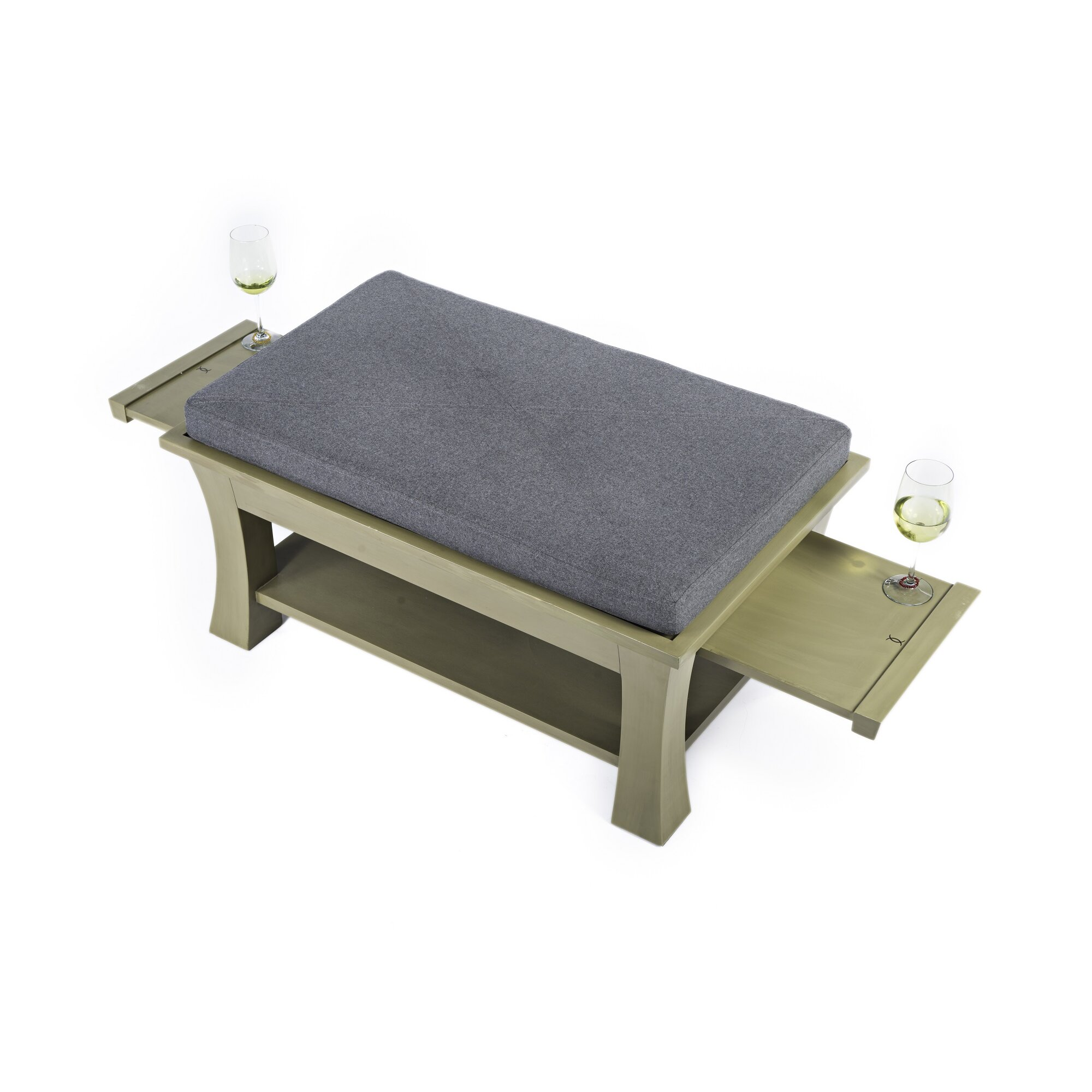 Coffee Tables With Ottomans That Pull Out Label 23 Dolton Table Ottoman With Pull Out Shelves In