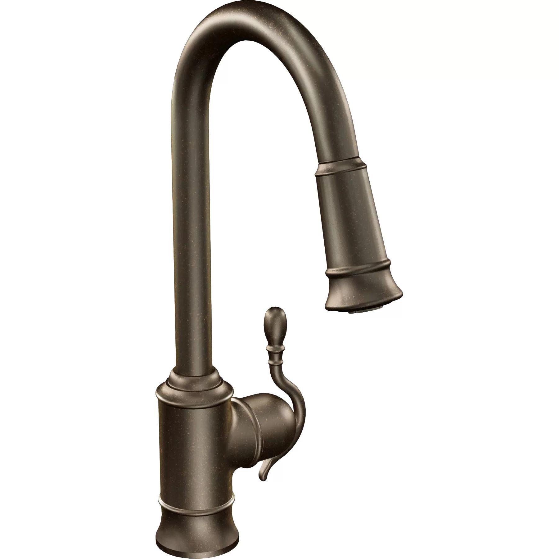 Moen woodmere single handle single hole kitchen faucet