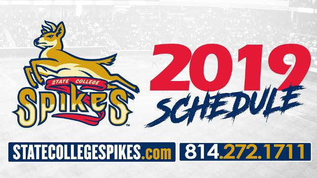 Spikes release 2019 schedule State College Spikes News