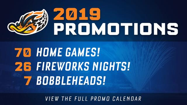 Ducks 2019 Promo Calendar Packed with 70 games of affordable, family