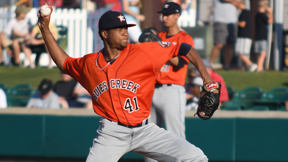 Astros\u0027 Alcala, Saldana lights-out in one-hitter Rochester Red