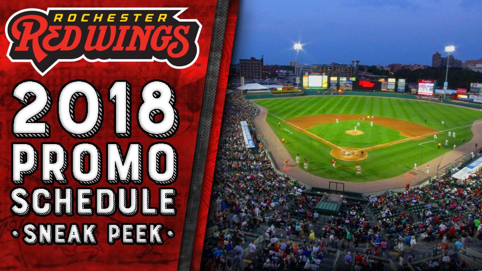 Sneak Peek 2018 Preliminary Promo Schedule Rochester Red Wings News