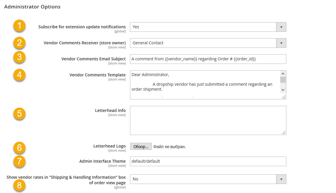 udropshipm2config UnirgyWiki - shipping information template