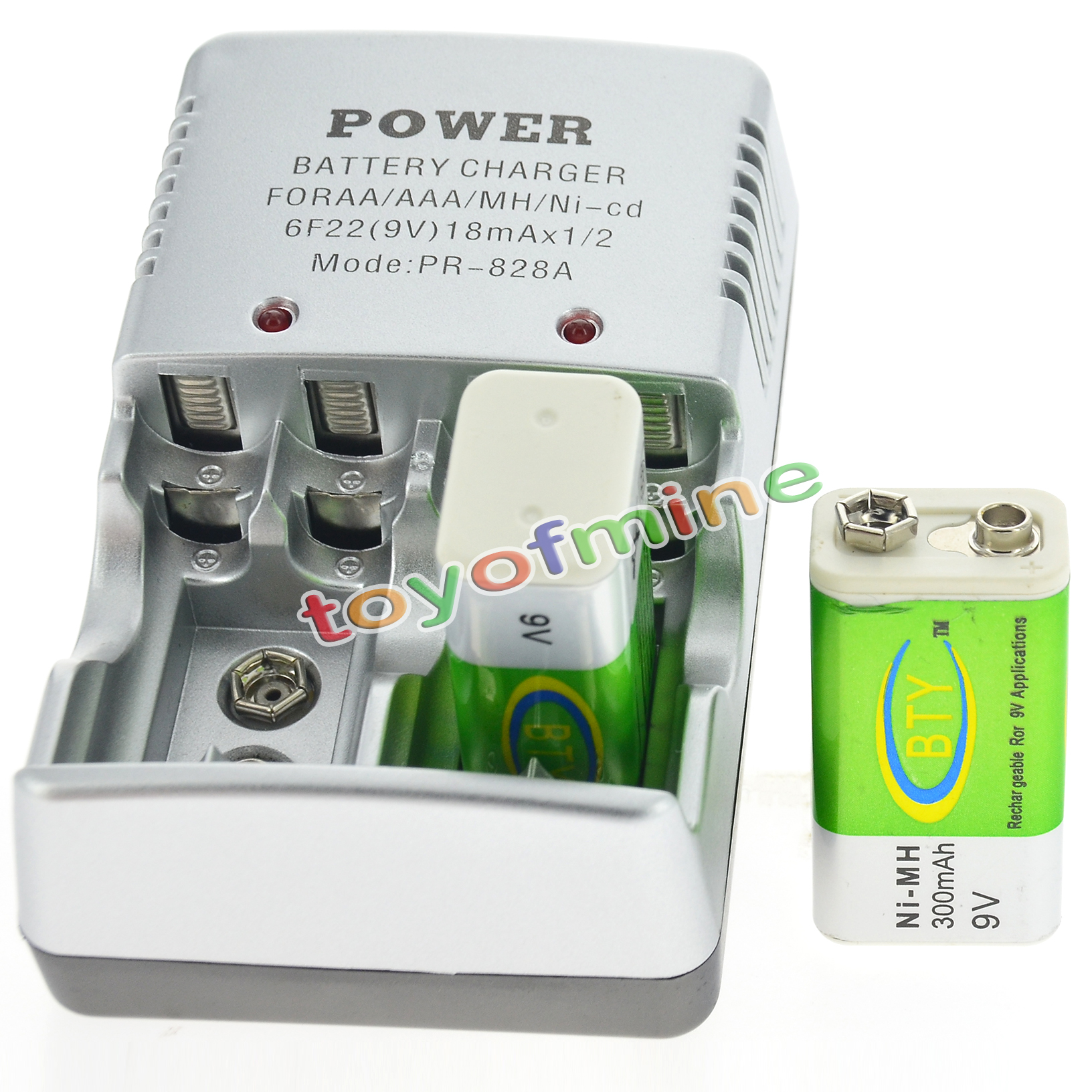 9 Volt Rechargeable Battery 2 Bty 9v 9 Volt Rechargeable Battery 300mah 43 Charger Ebay