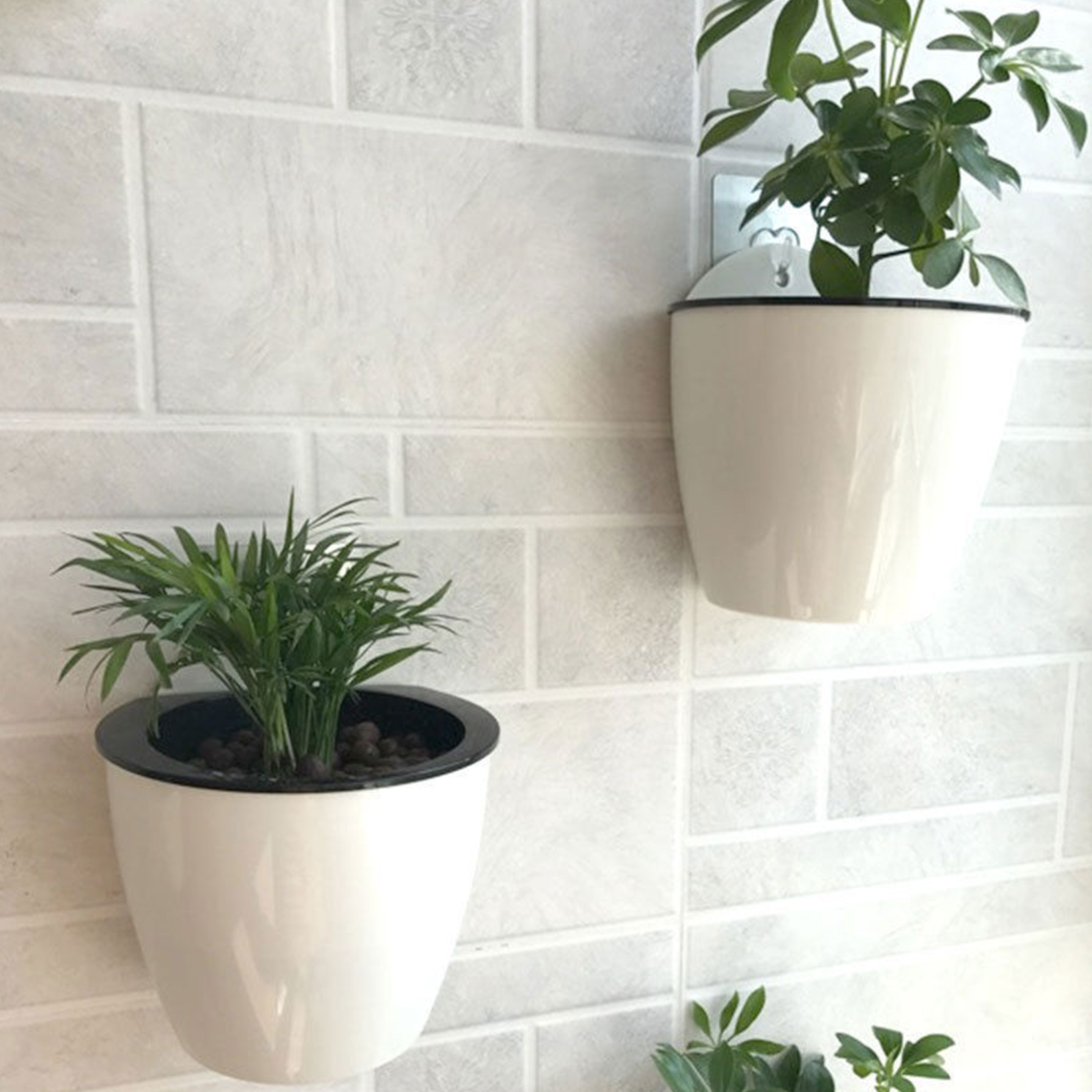 Outdoor Wall Hanging Planters Creative Self Watering Plant Flower Pot Wall Hanging