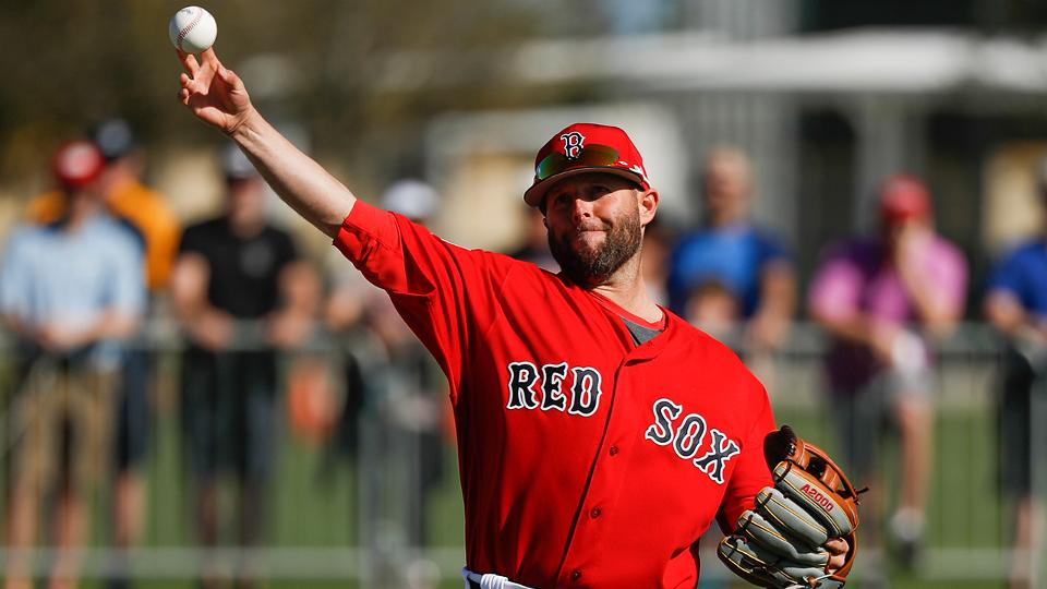 Dustin Pedroia swinging bat, will take BP soon Boston Red Sox