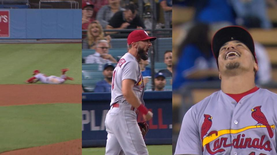Kolten Wong makes amazing play against Dodgers St Louis Cardinals