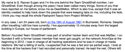 GhostShell Team identity