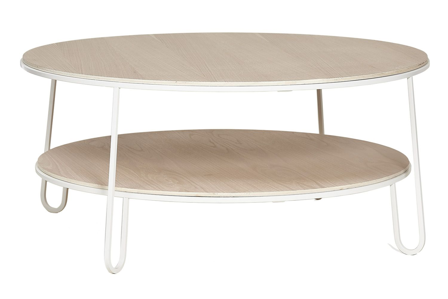 Table Basse Bois Metal Ronde Table Basse Ronde Bois Et Metal Blanc Boutique Gain De Place Fr