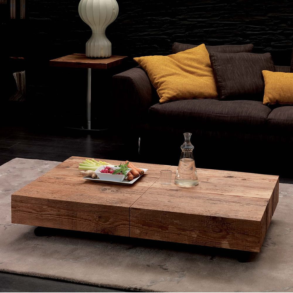 Flache Couchtische Box Legno: Modern Table In Metal, 120x75 Cm Top