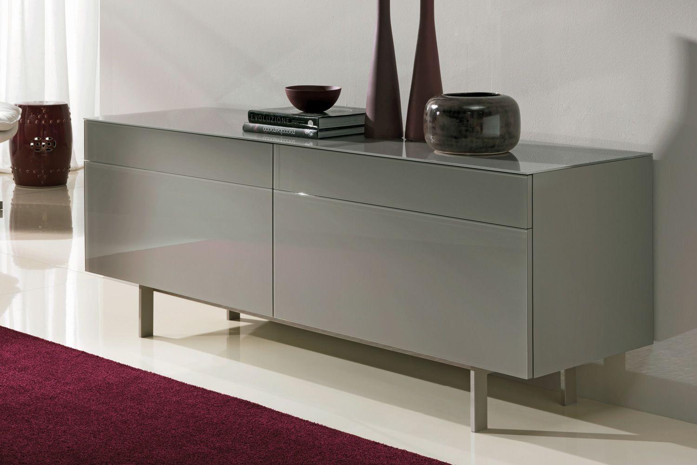 Credenza Moderna Vetro : Madia rovere grigio aly 105 moderna bontempi casa in legno e