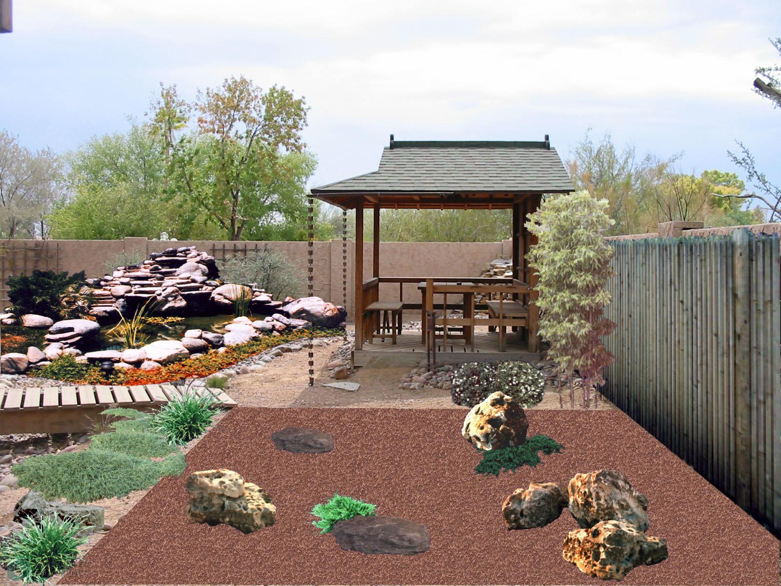Landscape Ideas For Small Gardens A Japanese Garden in the Desert?