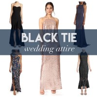 what to wear to a black tie wedding attire dresses formal ...