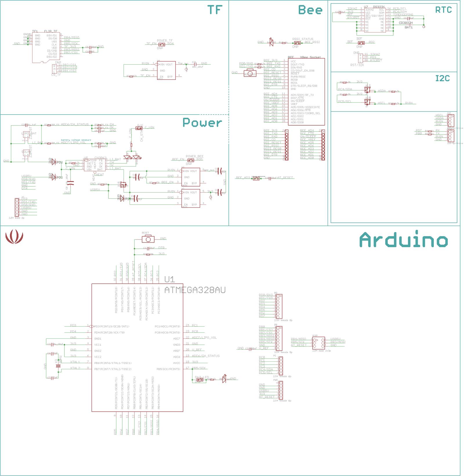 schematic of arduino in eagle cadsoft