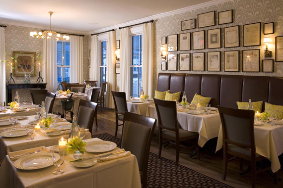 Hotel Fauchere's dining room