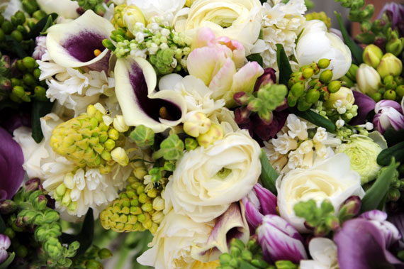 winter wedding floral design