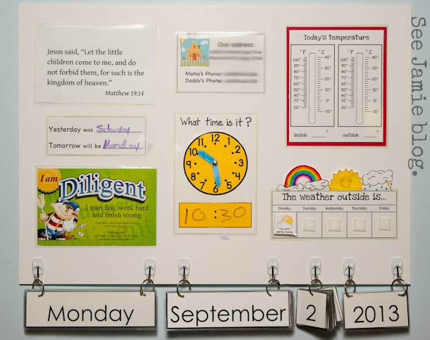 Morning Board and Calendar Time See Jamie blog