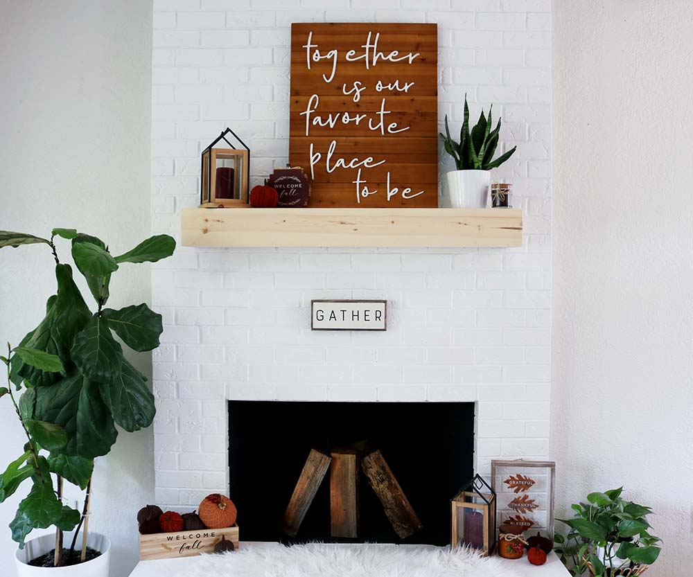 How To Decorate Fireplace Fireplace Reveal Decorate A Mantle For Fall Seeking Alexi Diy Boss