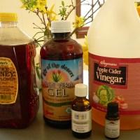 Aloe Vera, Honey, and Vinegar Hair Wash