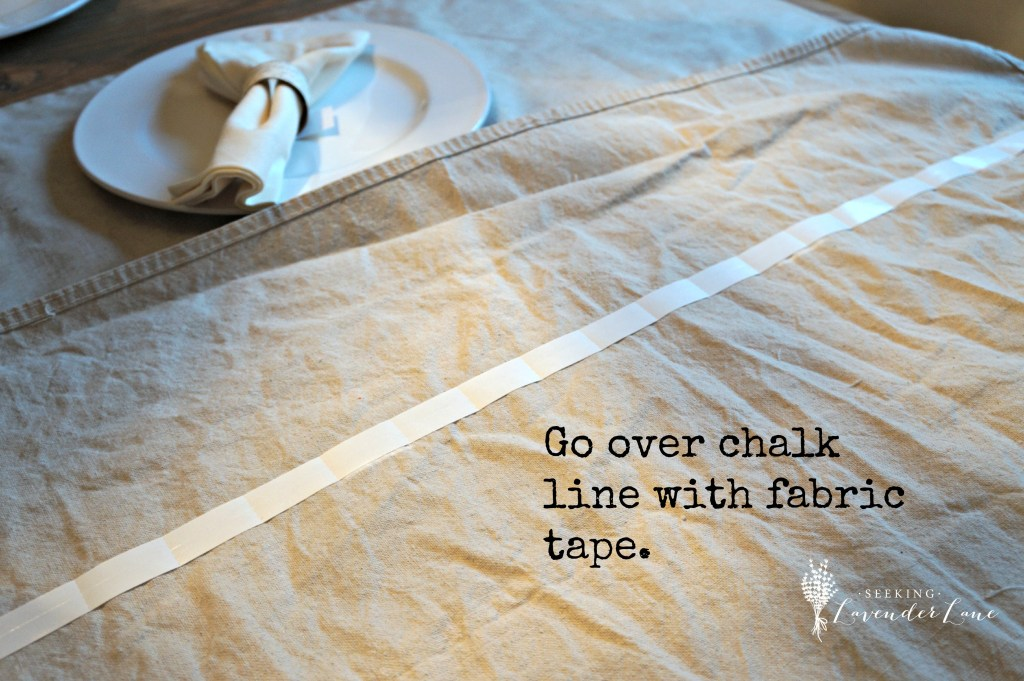 Fabric Tape to create curtain hem
