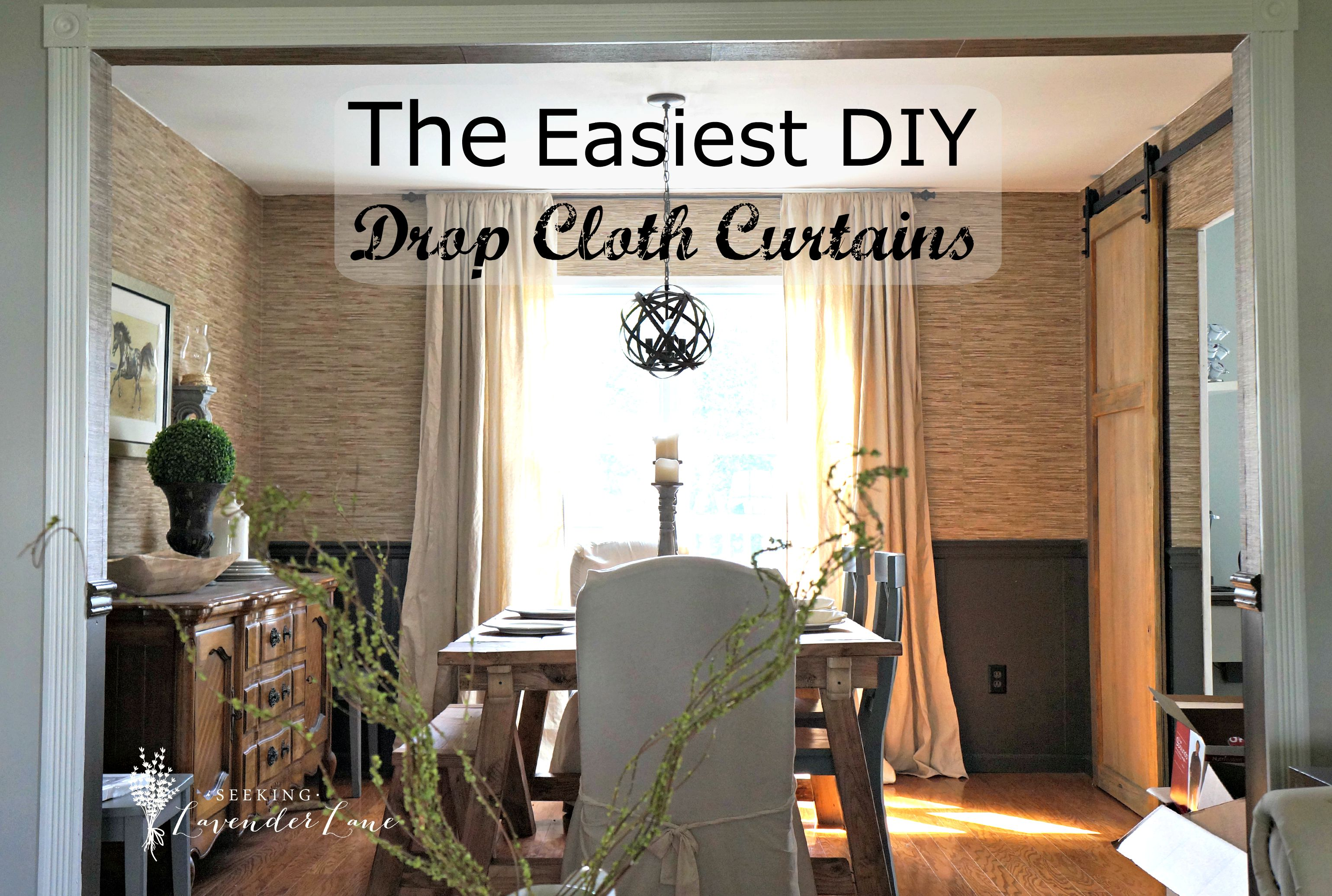 Cheap Stylish Curtains Cheap Home Decor Easiest Diy Drop Cloth Window Treatments