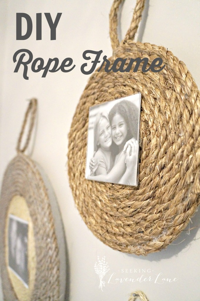 DIY Rope Frame with Label