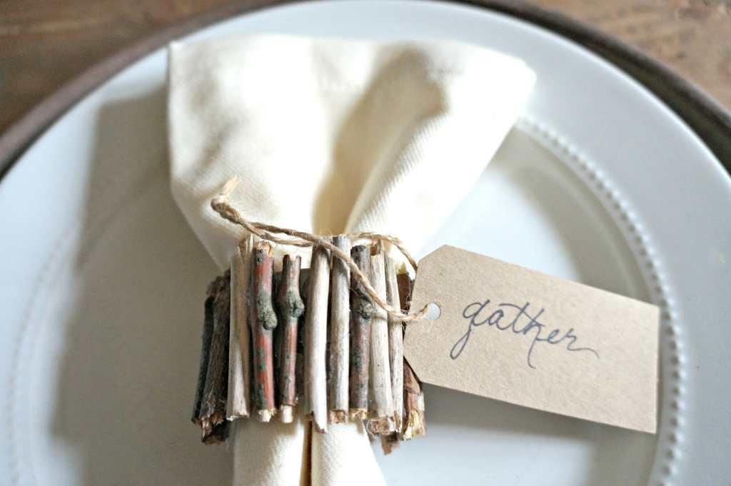 Rustic Sticks napkin Ring