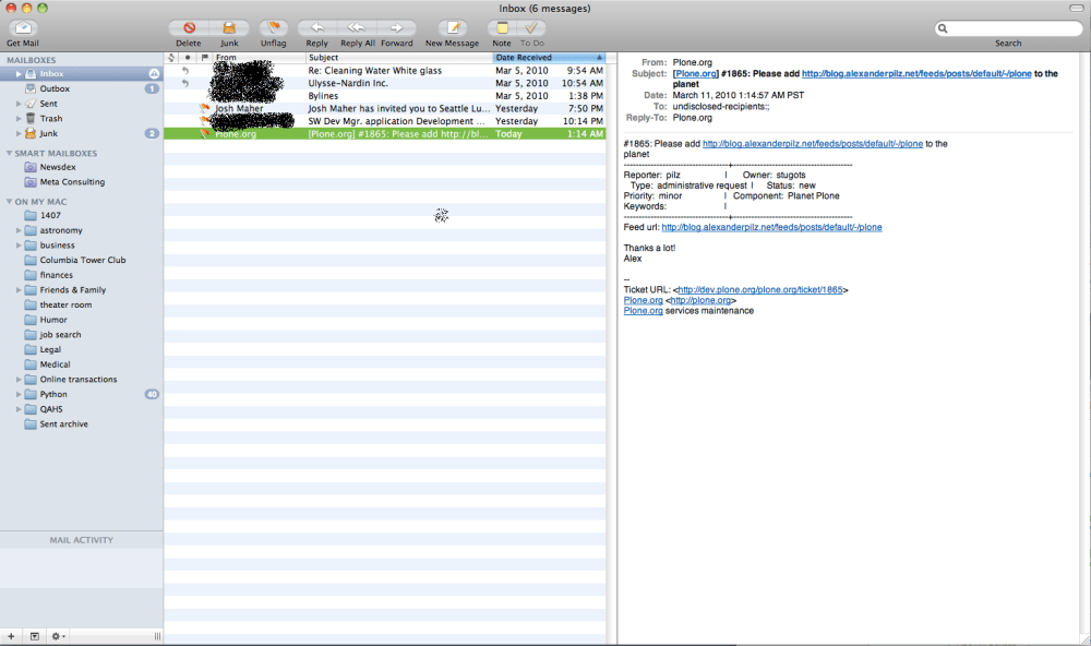 Changing Mac Mail to a 3-column view