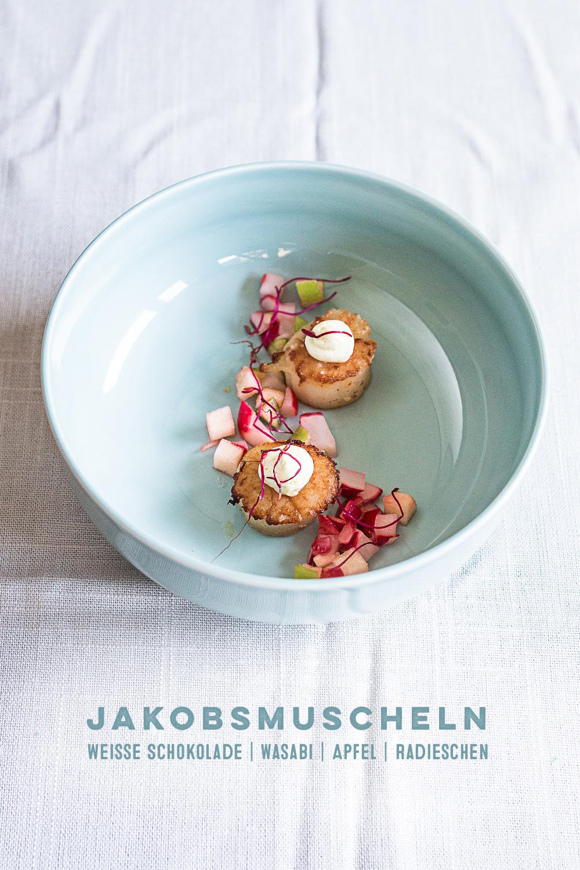 Jakobsmuscheln-Schokoladen-Wasabi-Butter-Titel