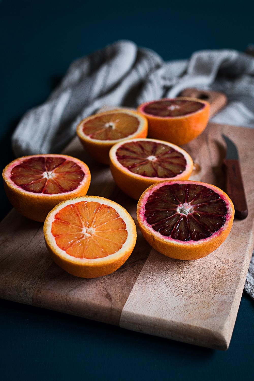 Baba au Rhum   braune Butter Eis   Blutorangen Gel   kandierte Orangen   seelenschmeichelei.de