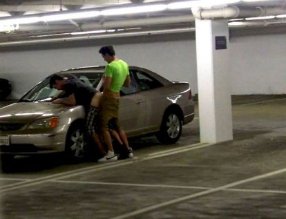 guy fuck his gay boyfriend in public