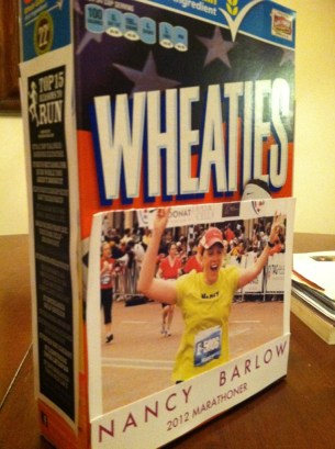 Yes, I ate my Wheaties.