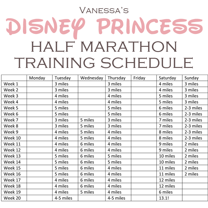 buff mama monday) half marathon training schedule Training - t chart template