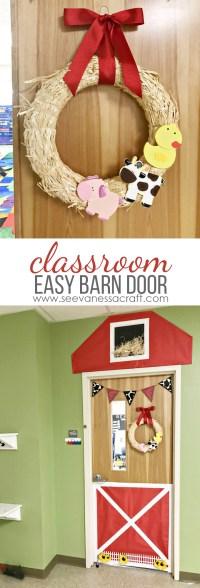 Craft: Easy Classroom Barn Door and Farm Animal Wreath ...