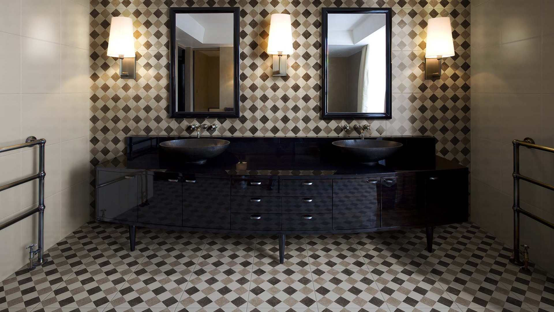 Iperceramica rivestimento cucina resina con decori parete cucina