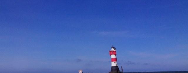 Der erste Leuchtturm an dem ich ganz nahe vorbei segle...