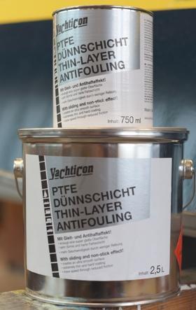 Yachticon PFTE Dünnschicht-Antifouling gibt es in den Gebinden © Yachticon GmbH