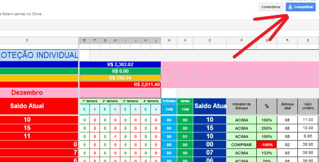 Compartilhar no Google Docs 2