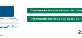 Venezuela: Banesco incrementa límite diario para transferencias por BanescoOnline para Personas Naturales